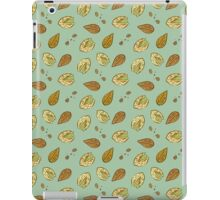 Nuts almonds and pistachios pattern iPad Case/Skin