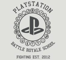 Playstation Battle Royale School (Grey) T-Shirt