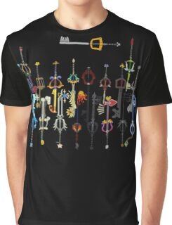 Kingdom Hearts Keyblades Graphic T-Shirt