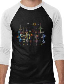 Kingdom Hearts Keyblades Men's Baseball ¾ T-Shirt