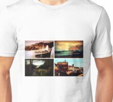 Tiled collage of Edwardian scenes circa 1910 Unisex T-Shirt