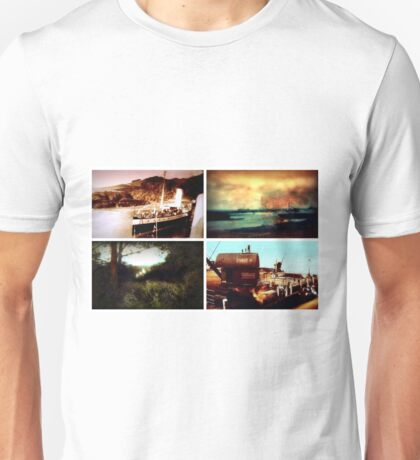 Tiled collage of Edwardian scenes circa 1910 Unisex T-Shirt