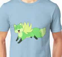 Cute Flying Green Fox Unisex T-Shirt