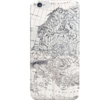 Europa, eis age old map from 1884 iPhone Case/Skin