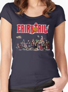 Fairy Tail Characters Women's Fitted Scoop T-Shirt