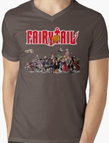 Fairy Tail Characters Mens V-Neck T-Shirt
