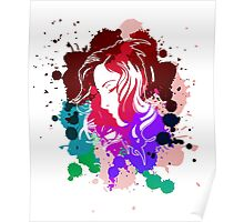 Ink Girl Portrait Graphic Poster