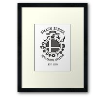 Smash School Newcomer (Grey) Framed Print