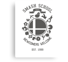 Smash School Newcomer (Grey) Canvas Print