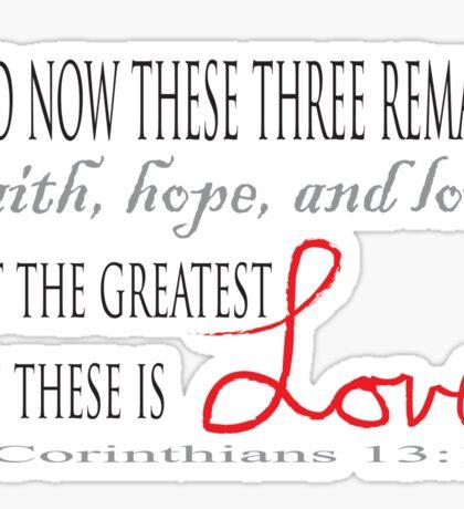 1 Corinthians 13:13 Sticker