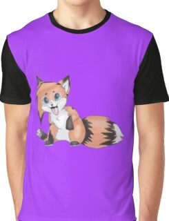 Cute Smiling Fox Graphic T-Shirt