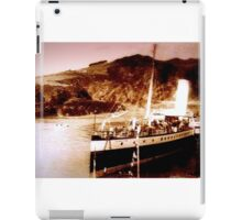 Boat in port circa 1910 iPad Case/Skin