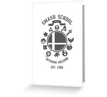 Smash School Veteran Class (Grey) Greeting Card