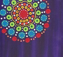 dots on purple background (2) by zehava