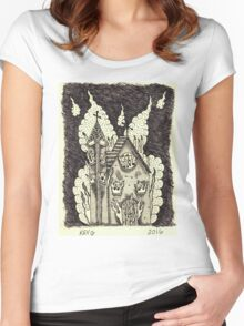 Church Burning sharpies Women's Fitted Scoop T-Shirt