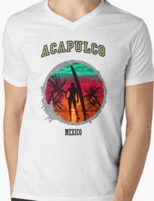 Acapuco Beach Mens V-Neck T-Shirt