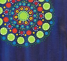 dots on dark blue background (1) by zehava