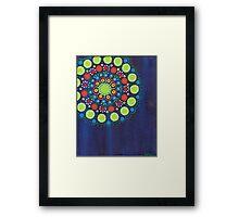 dots on dark blue background (1) Framed Print
