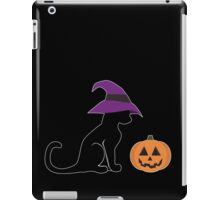 Halloween Witch Cat and Pumpkin iPad Case/Skin