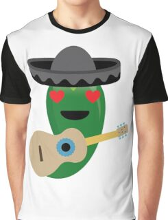 Spicy Chili Emoji Heart and Love Eyes Graphic T-Shirt