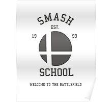Smash School (Grey) Poster