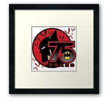 75 YEARS OF THE BAT Framed Print