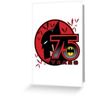 75 YEARS OF THE BAT Greeting Card