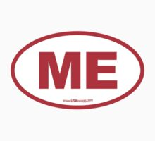Maine ME Euro Oval RED Kids Clothes