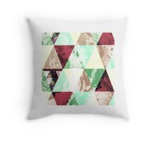 Retro triangle Throw Pillow