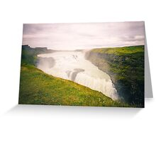 Iceland Waterfall Greeting Card