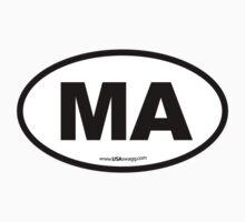 Massachusetts MA Euro Oval Kids Clothes