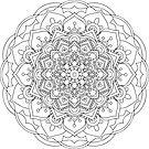 Unpainted Mandala by TinaGraphics