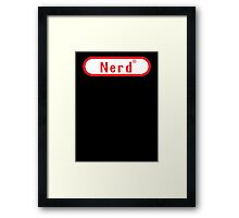 Video Game Nerd Framed Print