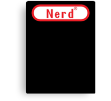 Video Game Nerd Canvas Print