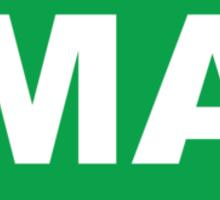 Massachusetts MA Euro Oval GREEN Sticker