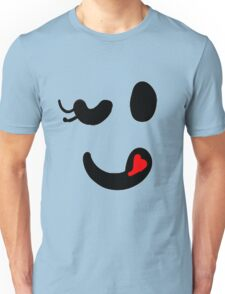 Cute winking smiley face Unisex T-Shirt