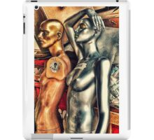 Bronze and silver female mannequins in storage. iPad Case/Skin