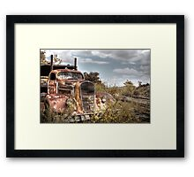 Big Hauler Framed Print