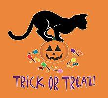 Trick or Treat Kitty by thekohakudragon