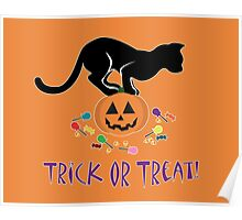 Trick or Treat Kitty Poster