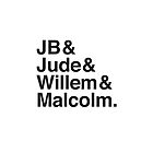 JB & Jude & Willem & Malcolm  by jazzydevil