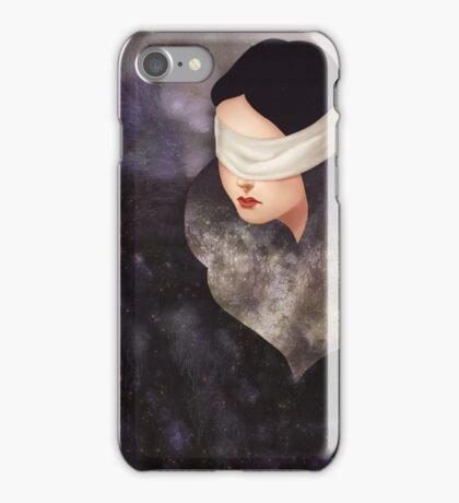 Blindfold Girl iPhone Case/Skin