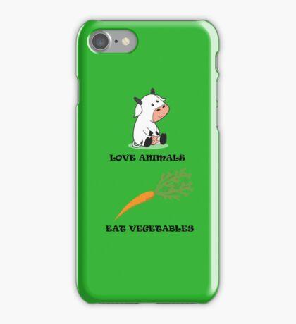 Love Animals Eat Vegetables iPhone Case/Skin