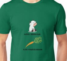 Love Animals Eat Vegetables Unisex T-Shirt