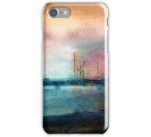 Shipyard in the distance circa 1910 iPhone Case/Skin