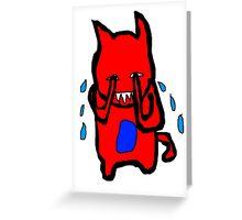 Sad Monster Greeting Card
