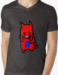 Sad Monster Mens V-Neck T-Shirt