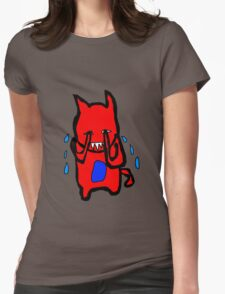 Sad Monster Womens Fitted T-Shirt