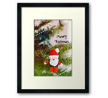 Merry Knitmas Framed Print