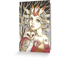 Princess Bianca and George the Brave Heart Greeting Card